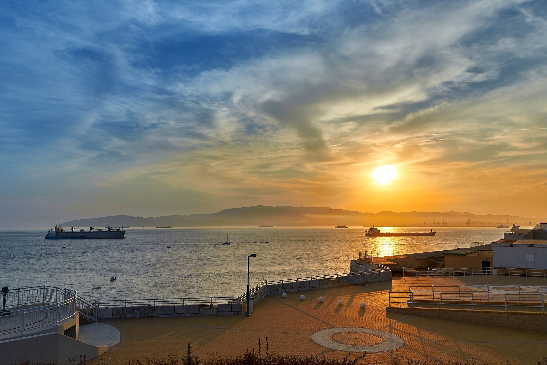 Gibraltar sunset